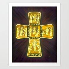 His Life Cross Art Print
