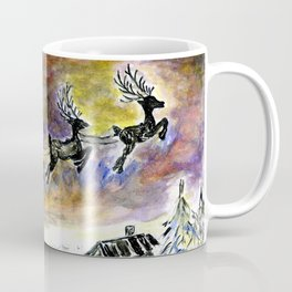 Santa Night Flight Coffee Mug