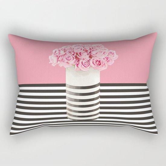 Roses and stripes Rectangular Pillow