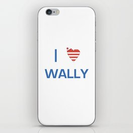 I Heart Wally iPhone Skin