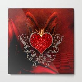 Wonderful heart with wings Metal Print
