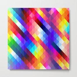Colorful Mosaic Style Metal Print