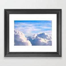 Clouds of Cream Framed Art Print