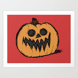 spoopy pumpkin Art Print