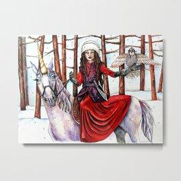 Winter Warrior by DeeDee Draz Metal Print