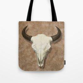 Bison Skull with Rose Rocks Tote Bag