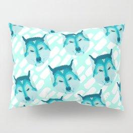 husky - teal pattern Pillow Sham