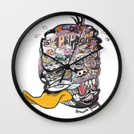 A PORTRAIT OF DAFFY DUCK (Orchid) Wall Clock