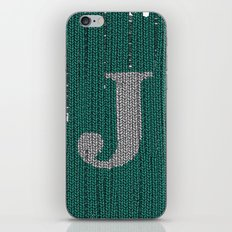 Winter clothes. Letter J III iPhone & iPod Skin