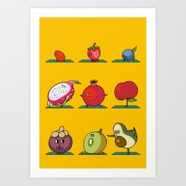 Super Fruits Yoga Art Print