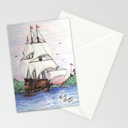 The Sea Lion in full sail Stationery Cards