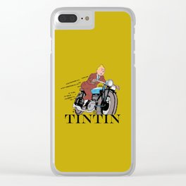 Tintin racing gold Clear iPhone Case