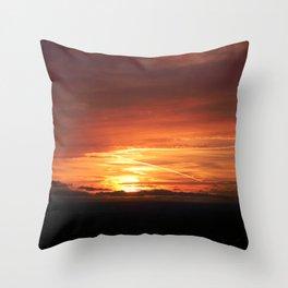 SETTING SUN II Throw Pillow