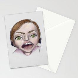 gamer gorl Stationery Cards