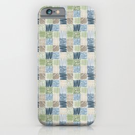 Jungle Set | hand illustrated quilt pattern iPhone Case