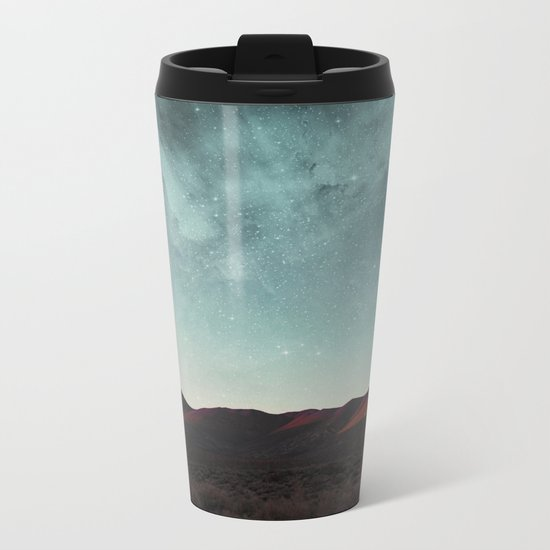 Universe above the mountain peaks Metal Travel Mug