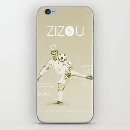 Zinedine Zidane iPhone Skin