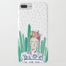 Frida Kahlo. Art, print, illustration, flowers, floral, character, design, famous, people, iPhone 7 Plus Slim Case
