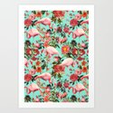 Floral and Flemingo IV Pattern by burcukorkmazyurek