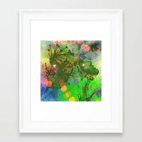 "gemini Framed Art Prints featuring "" Gemini "" by shiva camille"