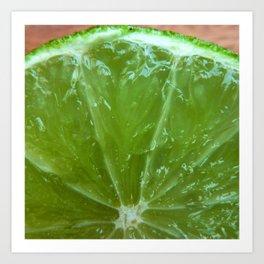 Lime Green and Fresh Art Print
