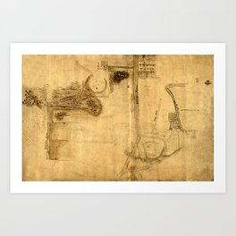 Map Of The Bowery 1760 Art Print
