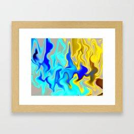 Road of Fire Framed Art Print