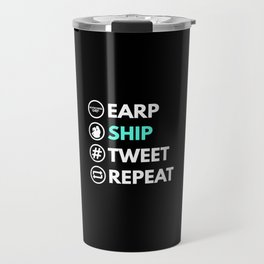 Earp Ship Tweet Repeat (Black) inspired by Wynonna Earp Travel Mug