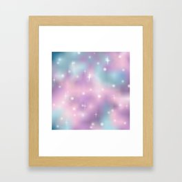 Pastel sky for the dreamers of the dreams Framed Art Print