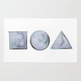 ⃞⃝△ (square circle triangle) Rug