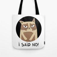 grumpy Tote Bags featuring Grumpy by Adrian Serghie