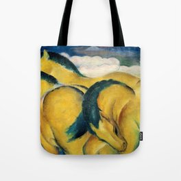 "Franz Marc ""Little Yellow Horses"" Tote Bag"