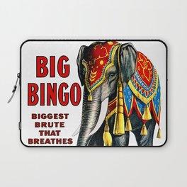 Big Bingo - Vintage 1916 Circus Poster Laptop Sleeve