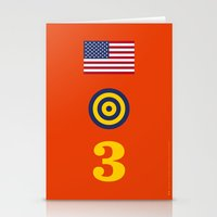 marc johns Stationery Cards featuring Iconic Painters: Jasper Johns by re:design