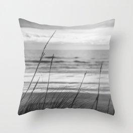 Black and White Ocean Dream Throw Pillow