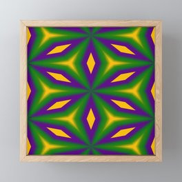 Mardi Gras Star 3598 Framed Mini Art Print