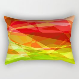 Red Rose with Light 1 Abstract Polygons 3 Rectangular Pillow