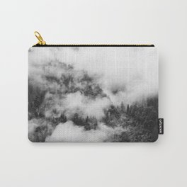 Fog Forest in Black and White – Landscape Photography Carry-All Pouch