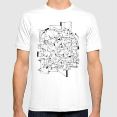 Mess MEDIUM Mens Fitted Tee White