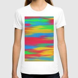 Abstracted mixed T-shirt