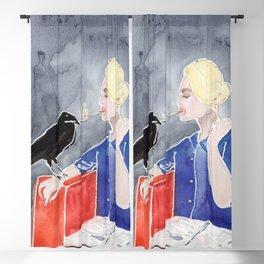 Tippi Hedren & a Crow Blackout Curtain