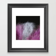 Feathers pink and white Framed Art Print