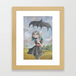 Z imagination Melancholy, Waiting for the Storm to Pass Framed Art Print