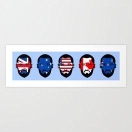 Spying The 5 Eyes Art Print
