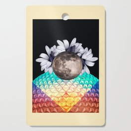 Beyond the moon and back Cutting Board