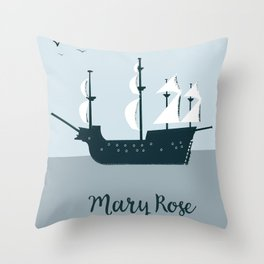 Mary Rose Cartoon Throw Pillow