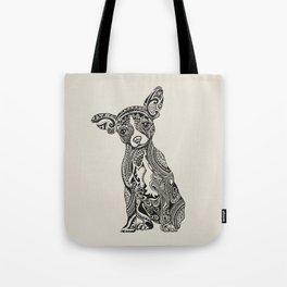 Polynesian Chihuahua Tote Bag