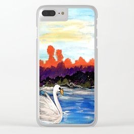 Swan Life Clear iPhone Case