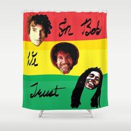 In Bob We Trust Shower Curtain