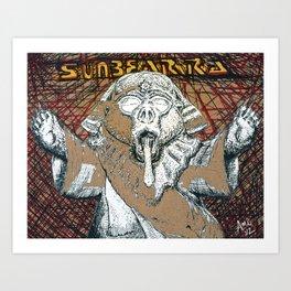 Sunbear Ra Art Print